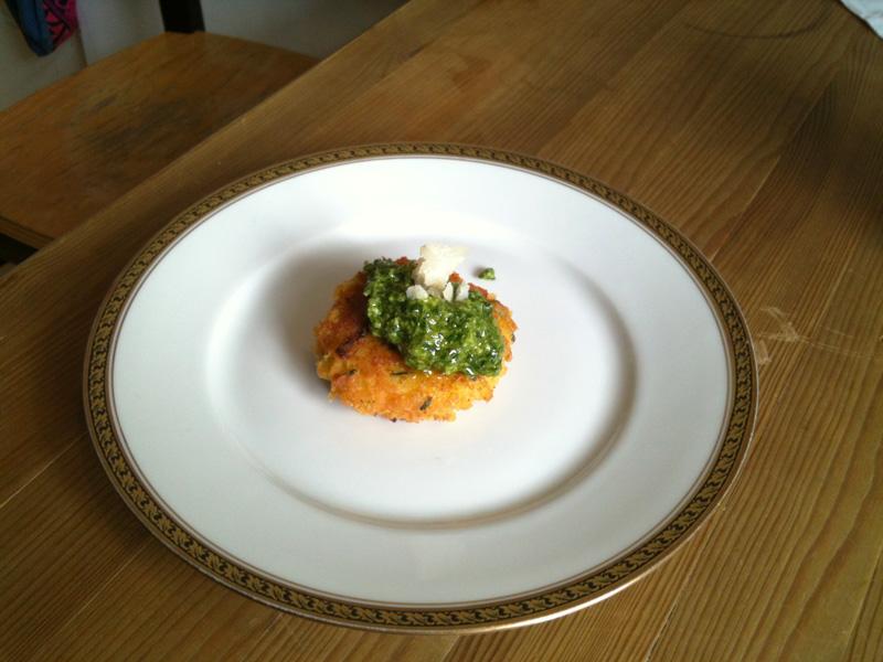 Kartoffelpflanzerl mit Spinat
